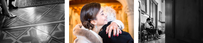 Photographe de mariage Annecy - Photographe de mariage Genève - cérémonie civile - mariage civil à la mairie des Eaux Vives à Genève - la mariée et son témoin