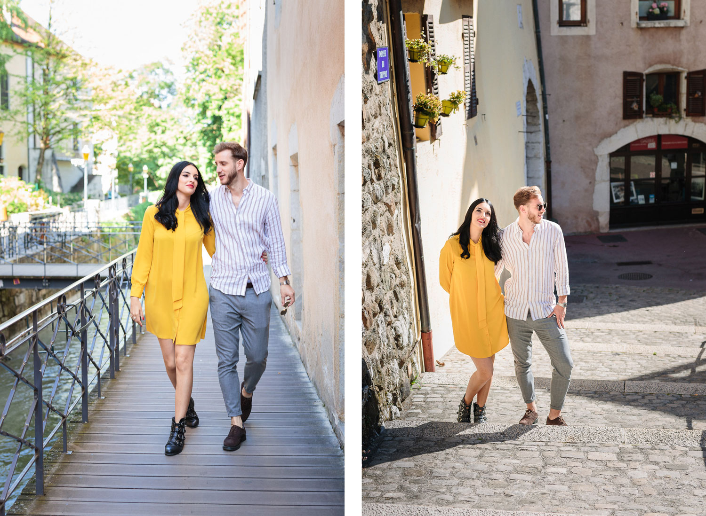 Quentin Weber Photographe séance de couple dans le vieil Annecy