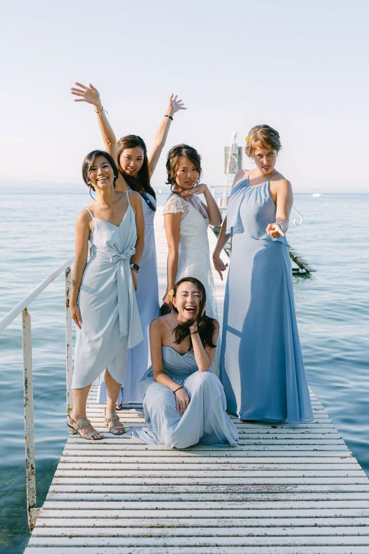 Photo groupe mariée mariage au château de coudrée lac léman - Quentin Weber Photographe de mariage Annecy Geneve Haute-Savoie